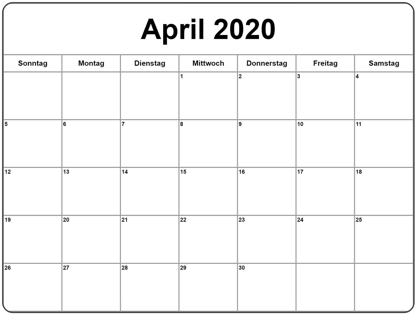Wichtige Geburtstage im April 2020