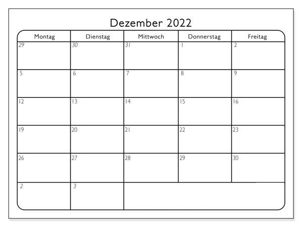 Dezember Kalender 2022 Mit Notizen