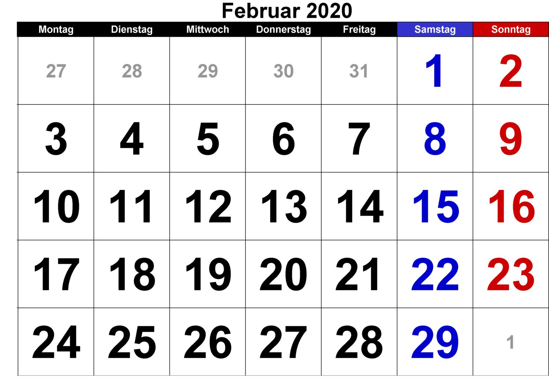 Februar 2020Für Studenten/Kinder