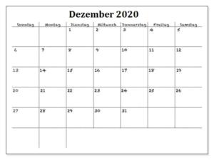 Kalender September 2020 Vorlage