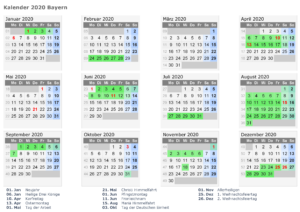 Sommerferien 2020 Bayern PDF
