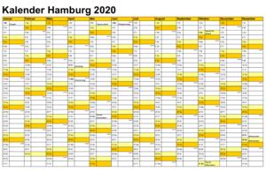 Feiertagen 2020 Hamburg
