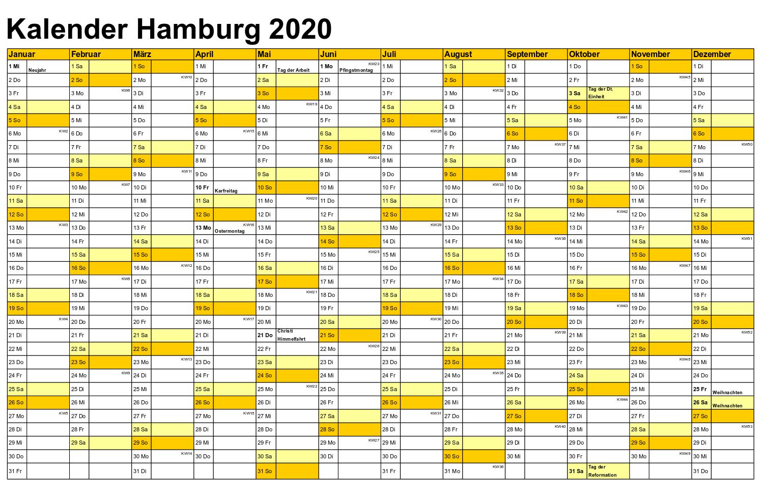 Schulferien 2020 hamburg