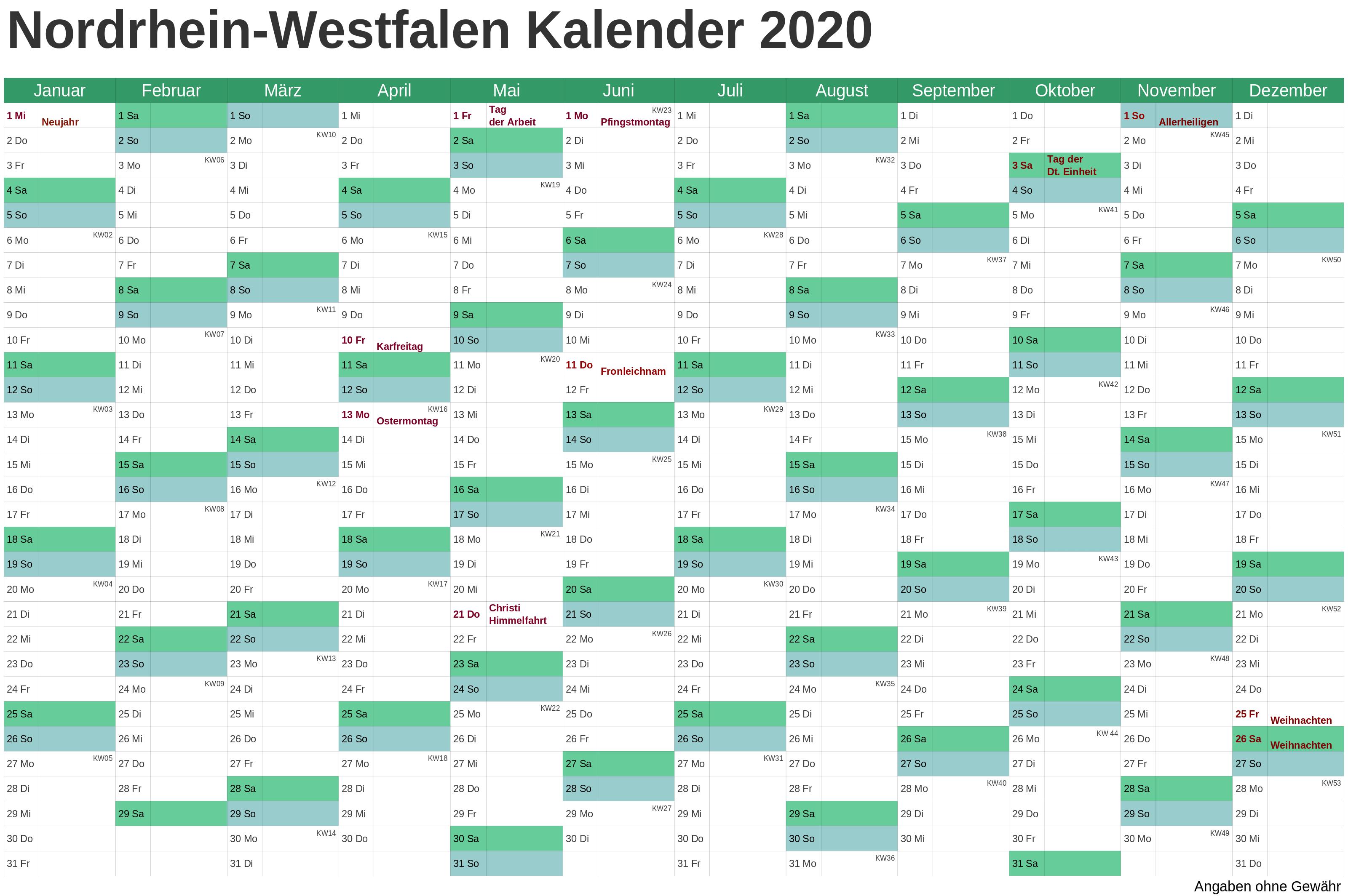Wann Sind Die Sommerferien NRW 2020 ?