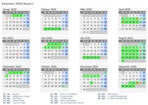 Kalender Bavaria 2020 Zum Ausdrucken