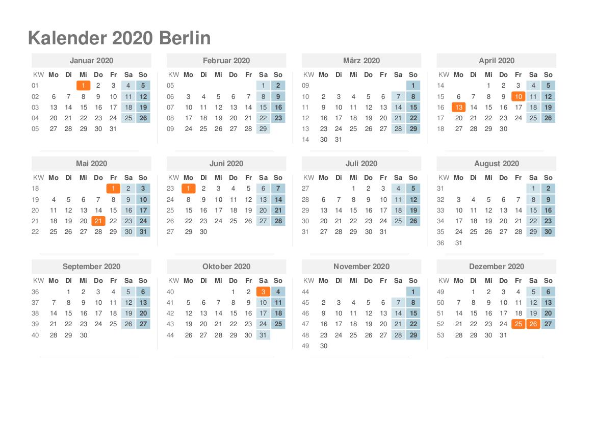 Feiertagen 2020 Berlin
