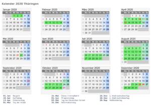 Wann Sind Die Sommerferien Thuringia 2020?