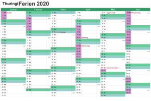 Feiertagen 2020 Thuringia