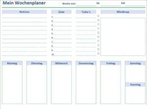 Wochenkalender 2020 PDF