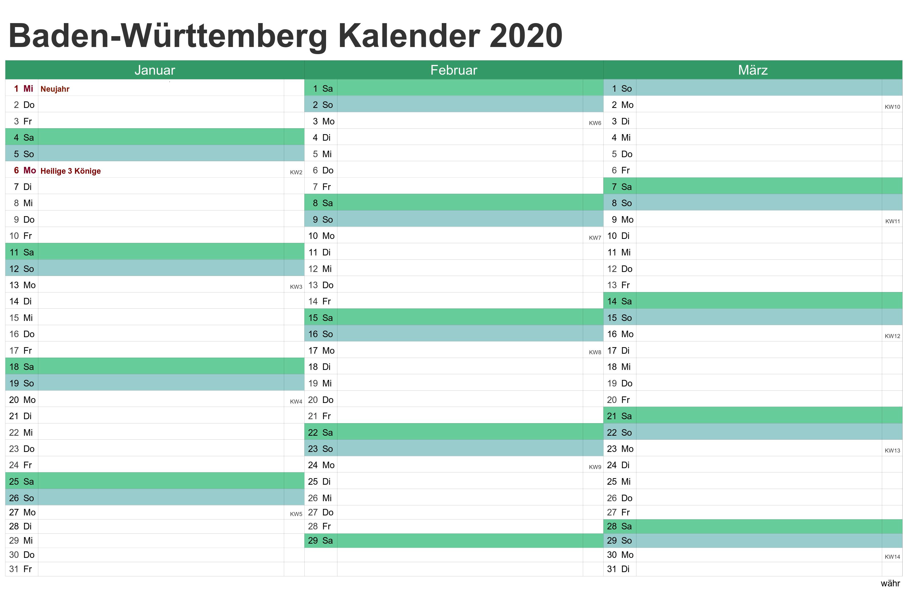 Sommerferien 2020 Baden-Württemberg PDF