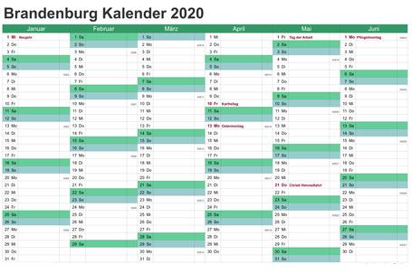Feiertagen 2020 Brandenburg