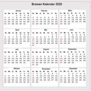 Feiertagen 2020 Bremen