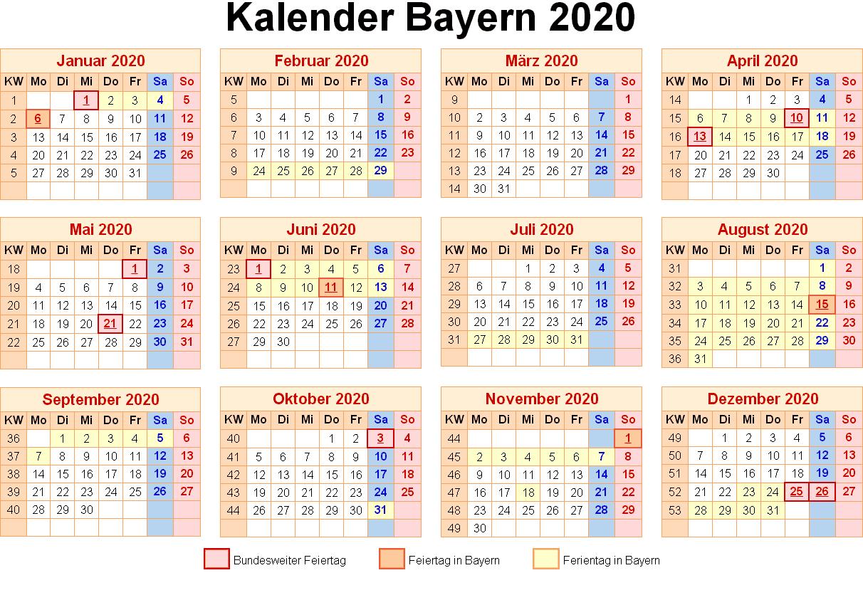 Feiertagen 2020 Bavaria
