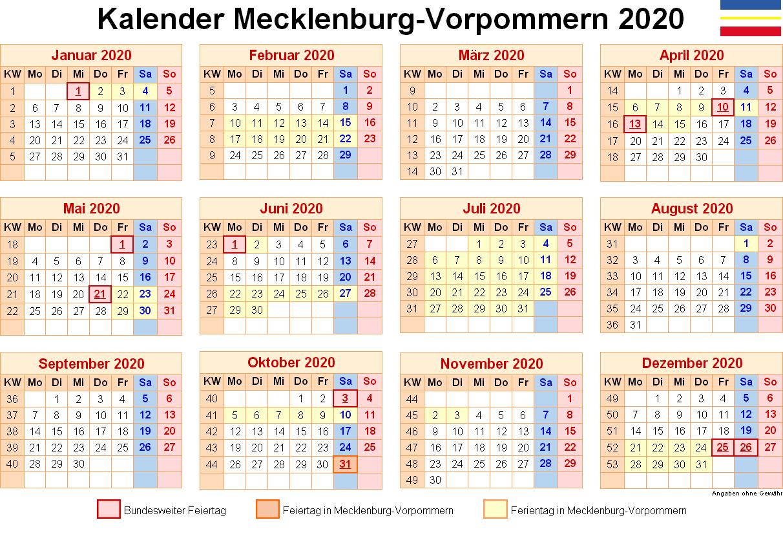 Feiertagen 2020 Mecklenburg-Vorpommern