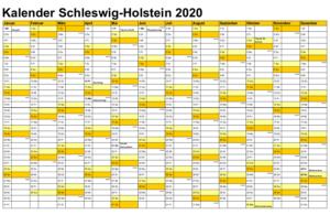 Sommerferien 2020 Schleswig-Holstein PDF