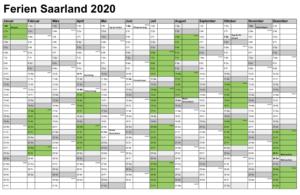 Feiertagen 2020 Saarland