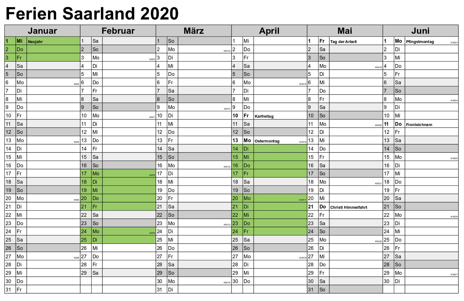 Wann Sind Die Sommerferien Saarland 2020?