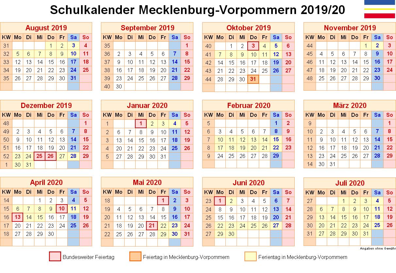 Wann Sind Die Sommerferien Mecklenburg-Vorpommern 2020?