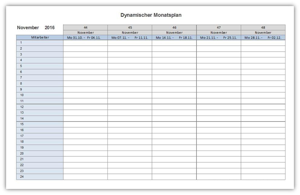 Wöchentliche Kalendervorlage PDF