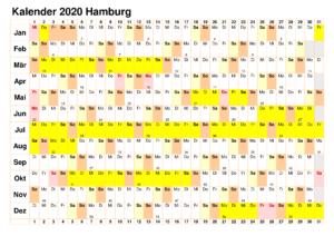Kalender 2020 Hamburg Mit Feiertagen Zum Ausdrucken