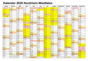 Kalender Ferien 2020 Zum Ausdrucken