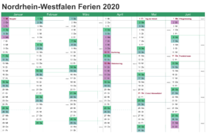 Ferien 2020 NRW Kalender PDF