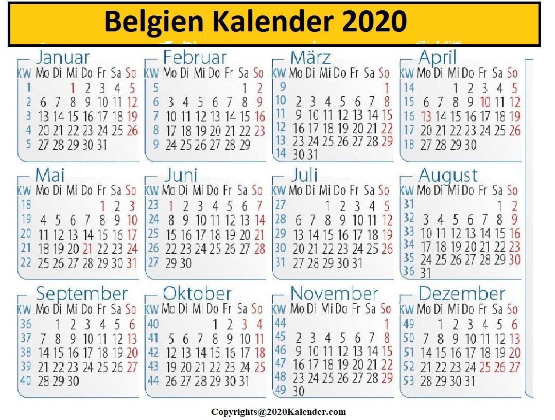 2020 Belgische Rally Kalender
