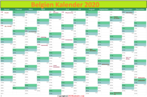 2020 BelgischerKalender Pdf
