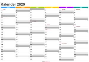 Halbjahreskalender 2020 PDF