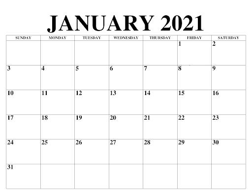 Januar 2021 Feiertags Kalender