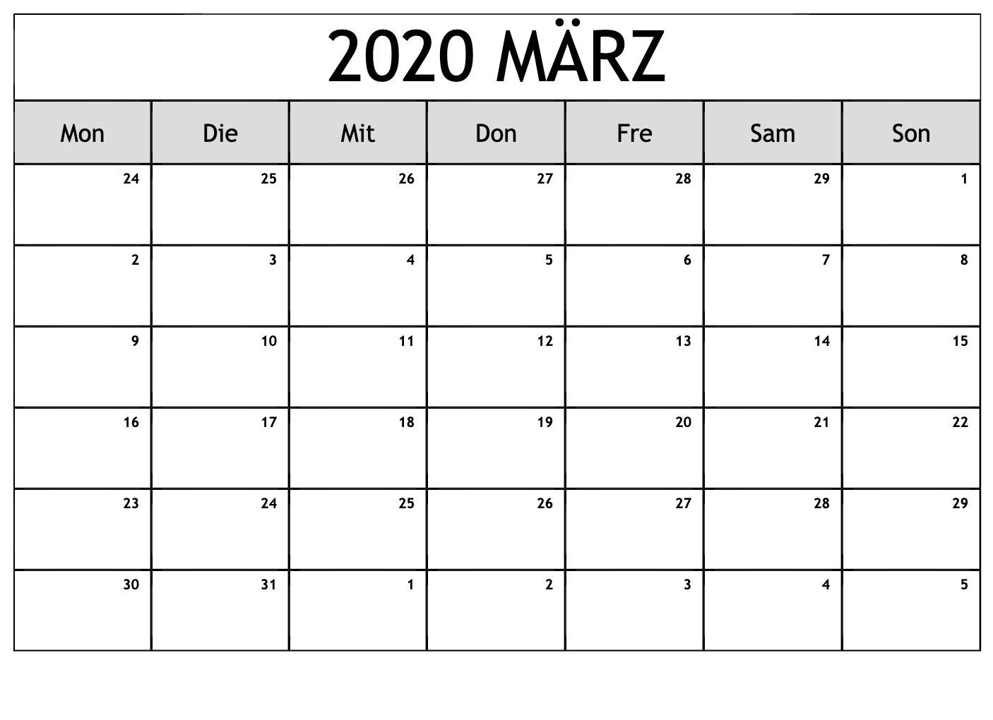 Kalender 2021 März Zum Ausdrucken