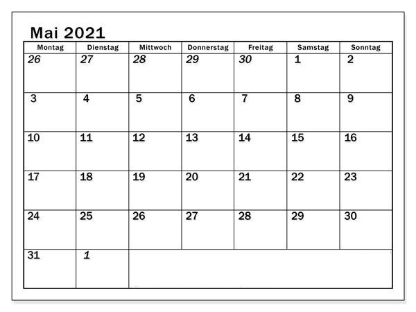 Mai Feiertags Kalender 2021