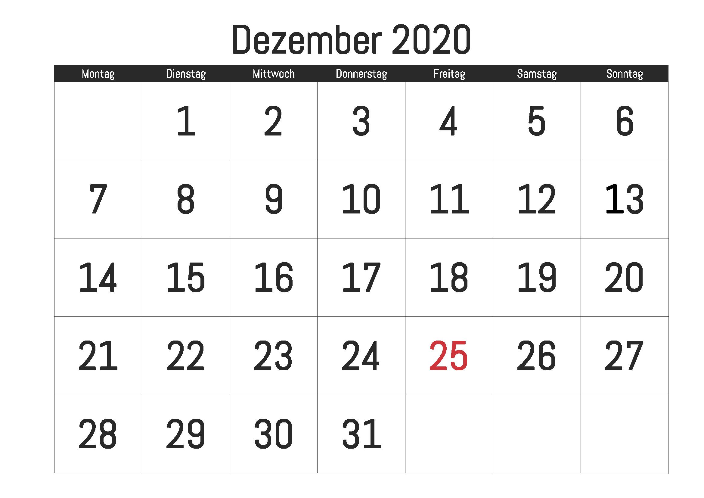 Dezember 2021 Kalender Ausdrucken