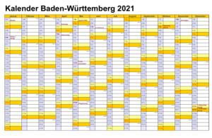 Feiertagen 2021 Baden-Württemberg Kalender