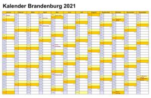 Feiertagen 2021 Brandenburg Kalender