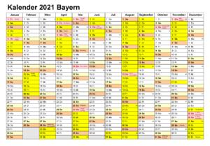 Kalender Bavaria 2021 Zum Ausdrucken