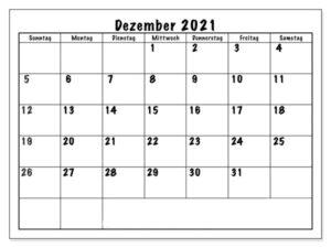 Kalender Dezember 2021 Drucken