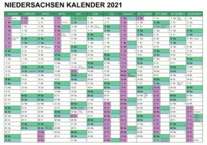 Feiertagen 2021 Niedersachsen Kalender