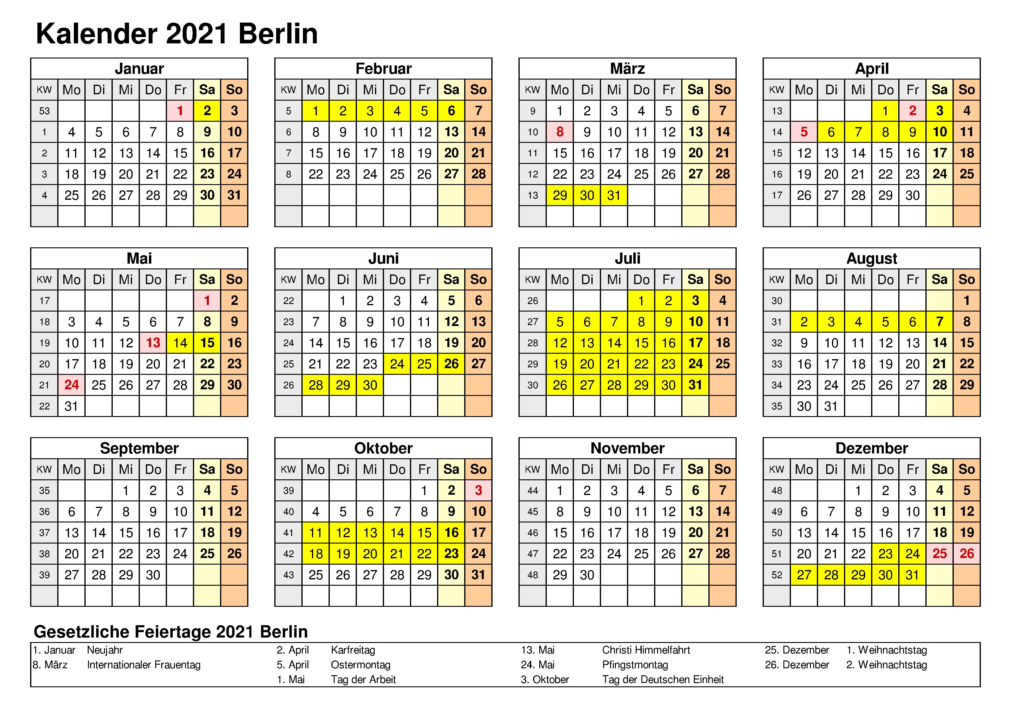 Sommerferien In Berlin 2021