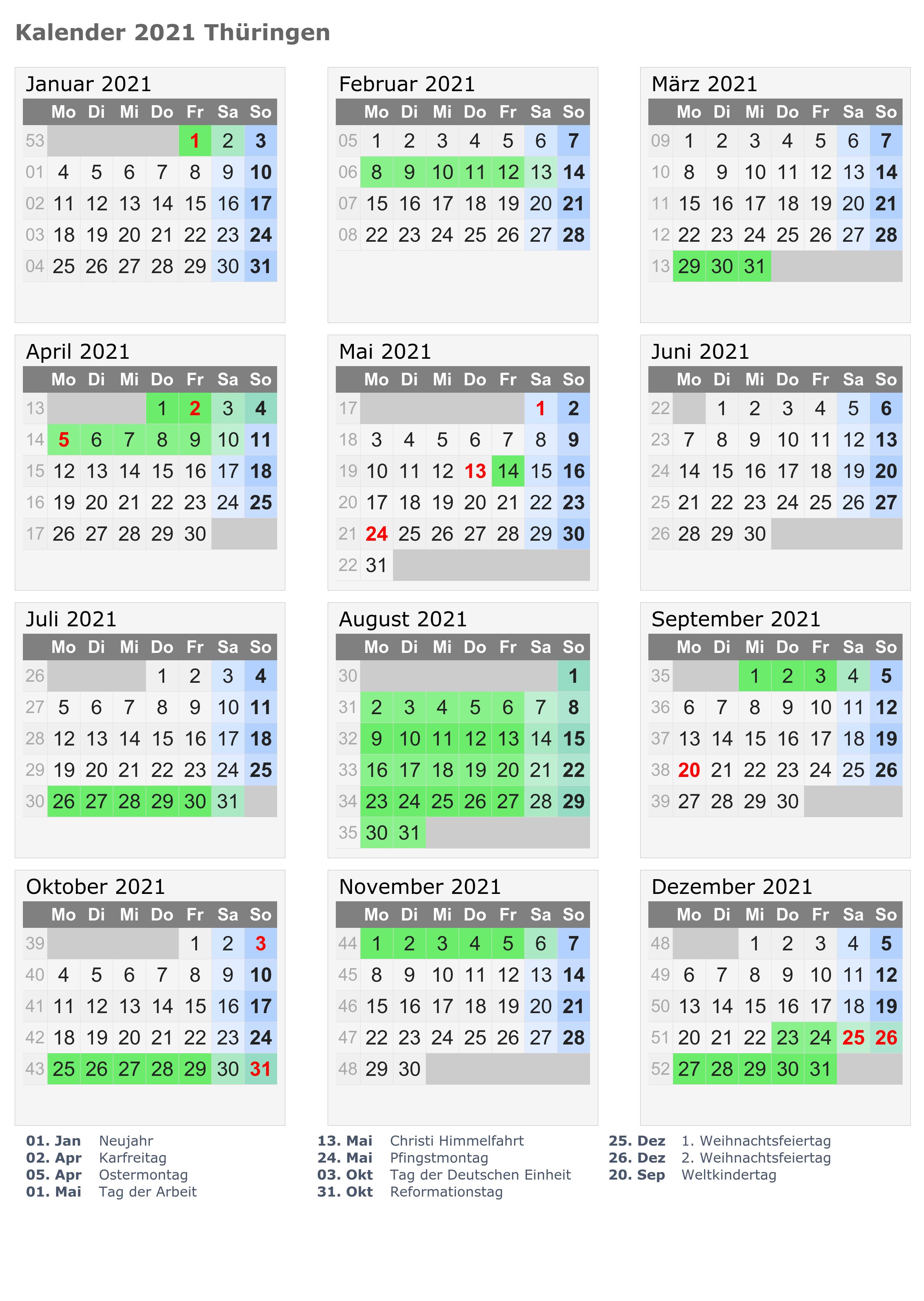 Wann Sind Die Sommerferien Thuringia 2021?