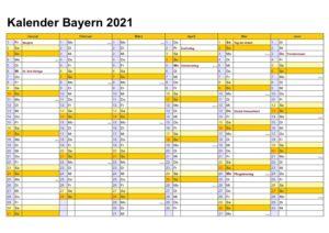 Kalenderpedia 2021 Bayern Pdf / Zweijahreskalender 2020 ...