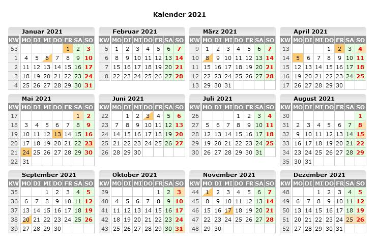 Sommerferien Hamburg 2021 Kalender Excel