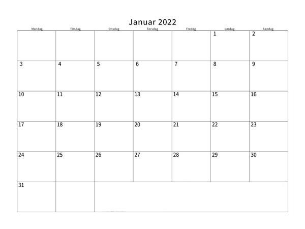Januar 2022 Feiertags Kalender