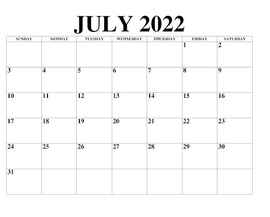 Kalender August 2022 Zum Ausdrucken