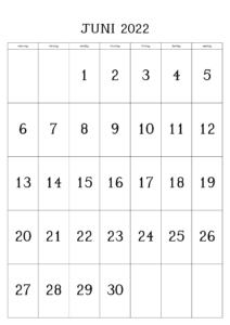 Mai 2022 Druckbarer Kalender